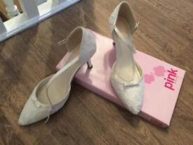 Size 6 wedding shoes (Ivory & Lace) £25