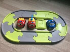 My first toy car set