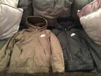 Boys Nike Fleece Jackets Age 10-12 x 2 (khaki & black)