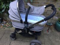 iCandy 2 silver mint pram in excellent condition