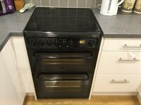 Hotpoint electric double oven (black)