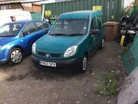 03 Renault kangoo disability vehicle or can be van 1 years mot only 33000 miles lovely driver £1175