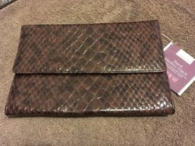 Mock Croc Jewellery Roll/Clutch. Ideal gift - e.g. Christmas, Mother's Day, Birthday or Travel