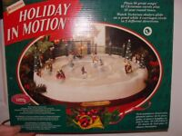 REDUCED! 'HOLIDAY IN MOTION' - electric display of beautiful victorian skating scene