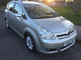 ***SORRY SOLD***2005TOYOTA COROLLA VERSO D-4D TSPIRIT MPV 7 SEATS ONE OWNER FROM NEW 2.0L DIESEL