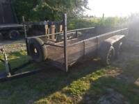12ft x 4ft twin axle caged side trailer