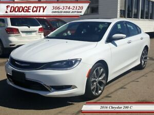 2016 Chrysler 200 C | FWD - Heated Leather, Remote Start, Blueto