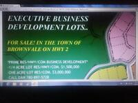 BUSINESS DEVELOPMENT LOTS FOR SALE IN THE TOWN OF BROWNVALE