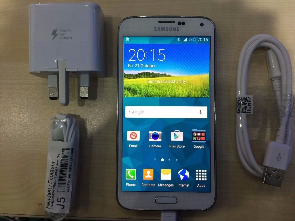 SAMSUNG S5 WHITEUNLOCKED16 GBVISIT MY SHOPNEW COND1 YEAR WARRANTYRECEIPT1in Redbridge, LondonGumtree - Samsung S5 WHITE its , 16 GB MEMORY working perfectly. The phone is like NEW and is UNLOCKED compatible with any Sim. 1 YEAR WARRANTY ON THE PHONE. 425, High Road, ILFORD, IG1 1TR ( 5 10 MINS FROM ILFORD STATION ) ( 1 YEAR WARRANTY RECEIPT ) The...