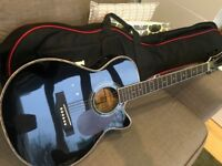 Freshman Electro-Acoustic Guitar for sale. In black. Superb condition. With case.
