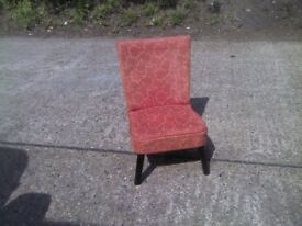 ANTIQUE VINTAGE RED DRESSING TABLE SMALL CHAIR - FOR CHILD