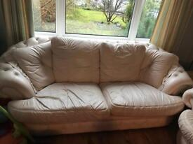 3+2 seater leather sofa