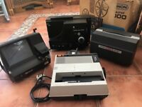 Vintage cine/slide equipment bundle