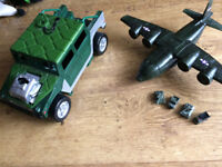Army plane ( including 5 mini vehicles) & Truck