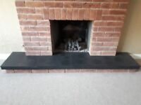 Black Slate Fireplace Hearth Used In Good Condition