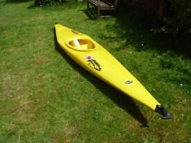 Single seat slalom kayak