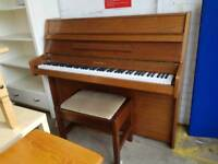 Chappell upright piano and small stool