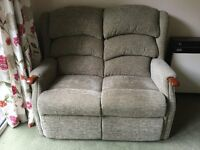 Green 2 seater sofa - nearly new, excellent condition