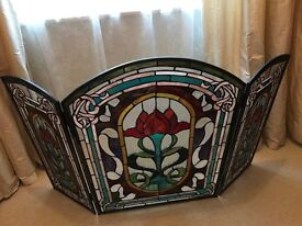 Stained Glass Fire Guard