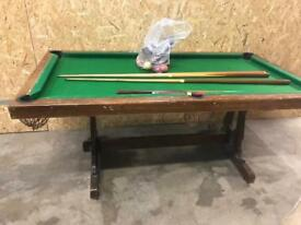 Antique pool/snooker table