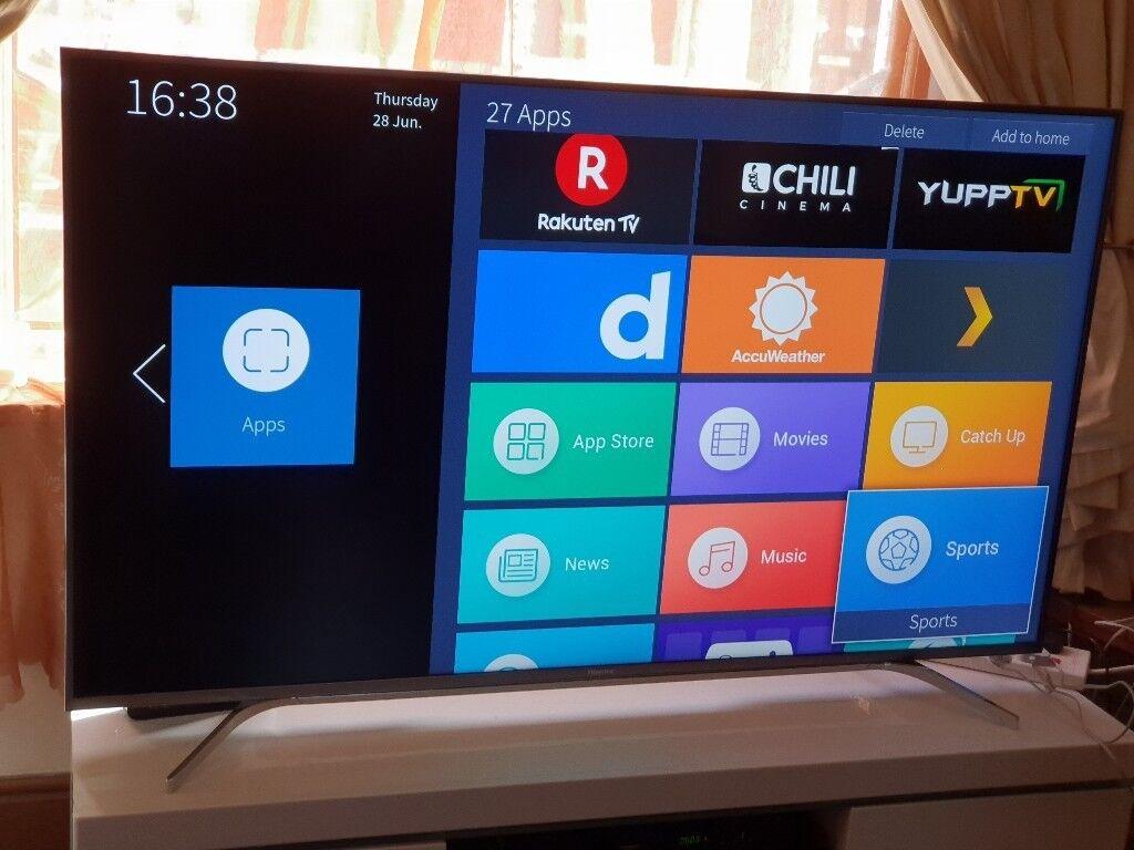 HISENSE 65-inch SUPER Smart ULTRA SLIM DESIGN, 4K ACTIVE HDR UHD ULED  TV-65M7000,built in Wifi | in Salford, Manchester | Gumtree
