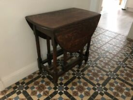 Oak Table Folding Dining Kitchen Hall oval