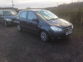 2006 06 HYUNDAI GETZ 1.1 5 DOOR ONLY 80.000 MILES LONG MOT IMMACULATE COND DONT MISS IT 595