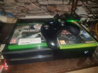 Xbox one 500gb with controller and Call of Duty Infinite Warfare and Fallout 4