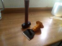 lump hammer + bolster chisel