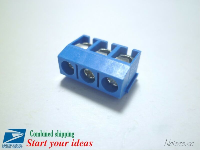 10Pcs 3Pin 5mm Pitch PCB Mount Screw Terminal Block Connector KF-301-3P for 5.08