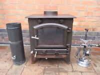 Fireplace cast iron,wood coal burner,in working order