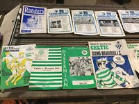 SELECTION OF OLD football programs kindly donated for local cancer charity funds thanks 🙏