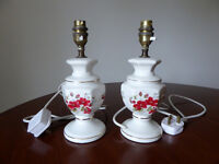 Pair of matching, hand-painted, ceramic Table Lamps