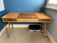 Desk dressing table oak walnut wood veneer from made