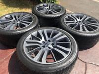 """20"""" Range Rover HSE Discovery Refurbished Alloy Wheels & Tyres VW T5 T6 5x120"""