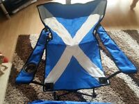 Saltire pattern canvas camping chair