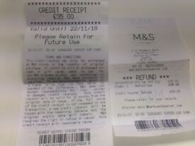Marks and Spencer - £35 Gift Credit Voucher for £30