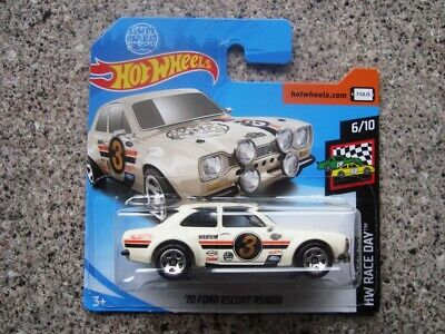 Hot Wheels 1970s Ford Escort RS1600 In White  MINT ON CARD