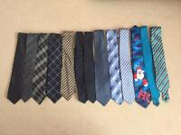 Tie collection.