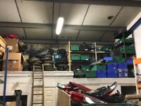 Motorcycle scooter job lot wholesale of used parts