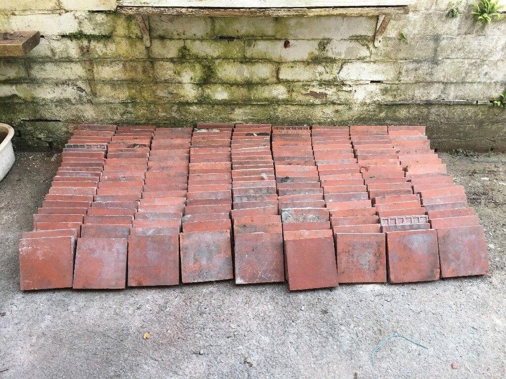 Red Quarry Tiles Reclaimed In Pontnewynydd Torfaen