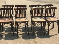 8 bentwood bistro wooden bar seats chairs