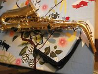 Alto Saxaphone, VGC, sold with case, reeds, cloth, etc