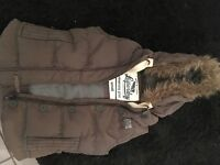Ladies small superdry gillet with fur hood