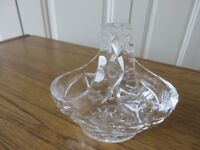 A small cut glass basket