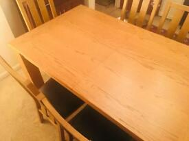 Tow Sofa and one small table and dining table six chair very very good condition