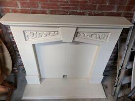 Fireplace - freestanding surround - cream/neutral coloured