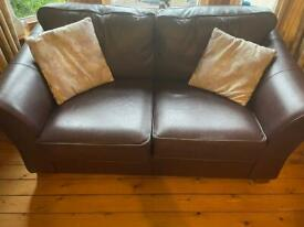 Leather Sofa brown 2 seater