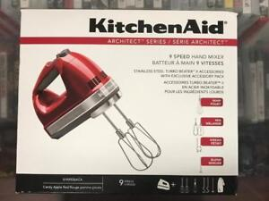 BRAND NEW KitchenAid Architect 9-Speed Hand Mixer - Candy Apple Red