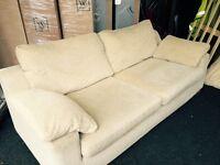 Harveys 3 + 2 seater cream fabric sofas *FREE DELIVERY*